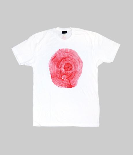 Fourth is King x Bryan Nash Gill: Locust White #woodcut #clothing #tree #design #tshirt #art #fashion #style