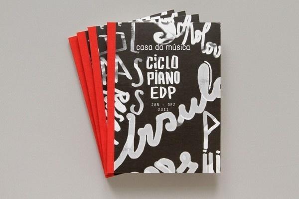 Piano Annual Brochure | Sara Westermann #drawn #brush #type #hand #typography