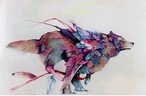 Wolf Bird #drawing #wolf
