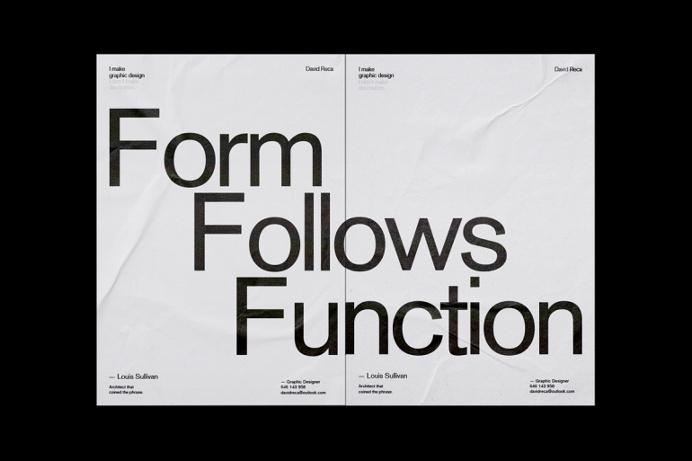 David Reca / I make graphic design. I don't make decoration. / Poster / 2016