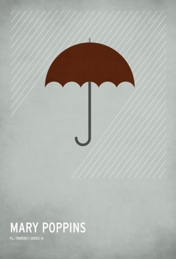 The Curious Brain » Christian Jackson #mary #design #graphic #fairytale #poster #minimalist #poppins