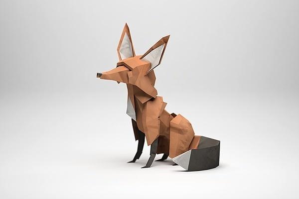 Jeremy Kool #fox #paper #geometric