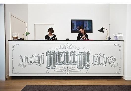 VINCCI BIT HOTEL on the Behance Network #marta #lettering #cerda #mosaic #hotel