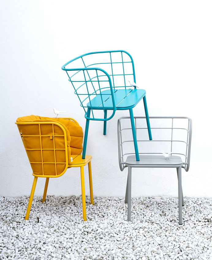 Jujube Collection by 4P1B Design Studio jujube outdoor seating arrangement 2 #seats #chairs #outdoor #metal #seating