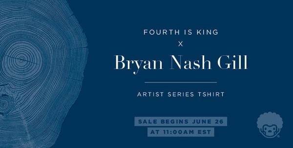 Fourth is King x Bryan Nash Gill #woodcut #tree #design #tshirt #menswear #art #streetwear #fashion #ad