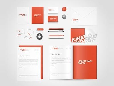 Dribbble - Birds Eye View Stationery Mock-up by Vlade Dimovski #stationary #business #card #brand #identity