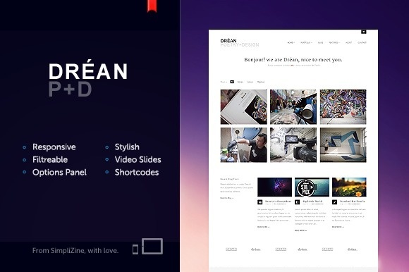 Dréan theme #design #theme #minimal #webdesign #wordpress