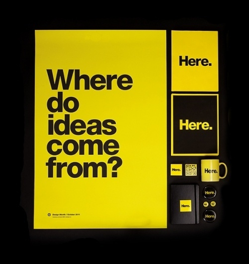 Design Month 2011 on the Behance Network #helvetica #yellow #bold #poster