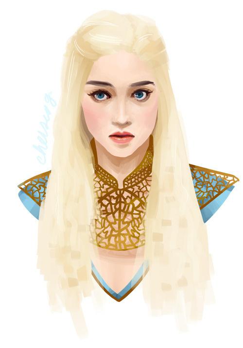 Daenerys #daenerys #of #targaryen #illustration #asoiaf #game #thrones