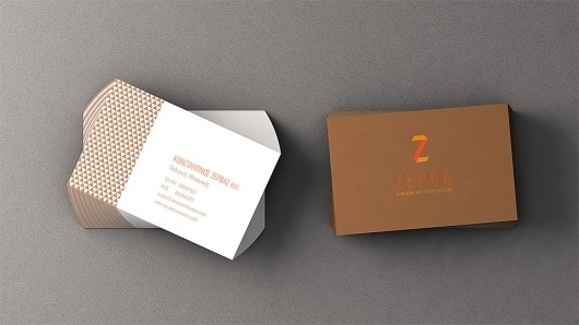 Zerva Construction | BKTN #logo #identity #business card #triangle #construction #business #card