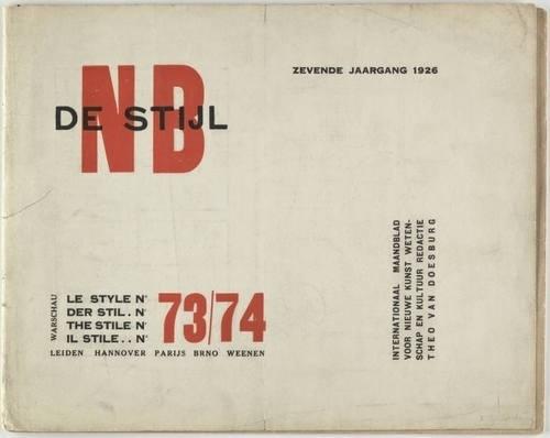MoMA | The Collection | Unknown Artist. De Stijl NB 73/74. 1926 #print #design #graphic #de #letterpress #tschichold #stijl #jan