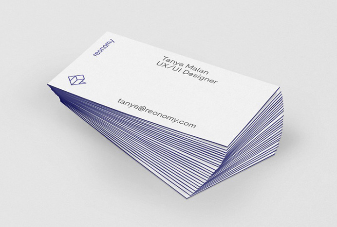 Reonomy by DIA #graphic design #print #business card
