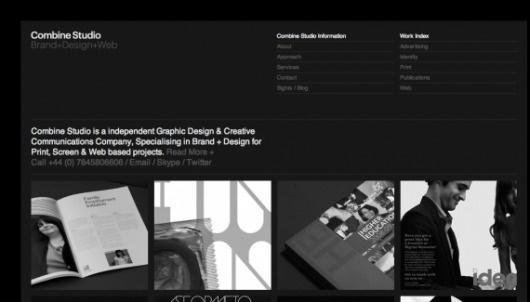 Combine Studio - Web design inspiration from siteInspire #fdgfdg