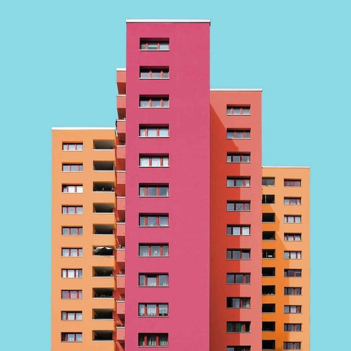 Colorful and Minimalist Architecture Photography by Paul Eis