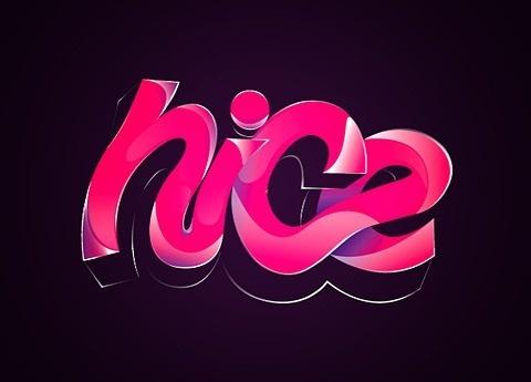 FFFFOUND! #pink #nice #little #works #type #typography