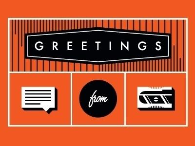 Dribbble - Greetings by Linda Eliasen #script #orange #icons #illustration #futura #type