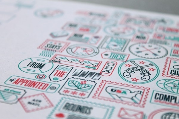 Not For Rental on Behance #print #stamps #icons #outline