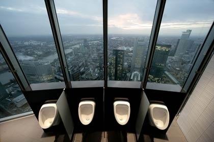 Urinals of Commerzbank Headquarters (via... #toilets #architecture