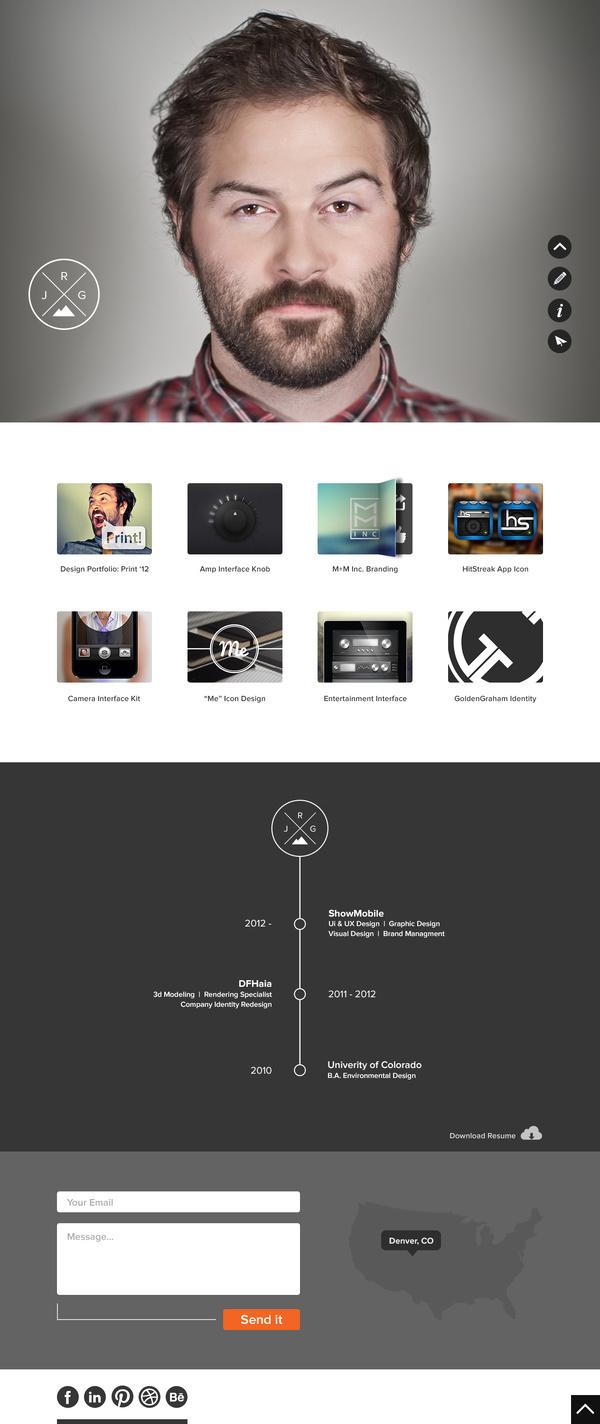 Justin Graham #flat #ux #ui #website #clean #web