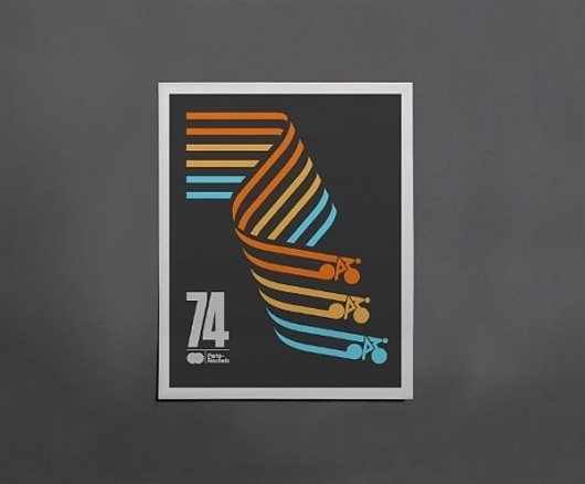Cycling Posters by Caleb Kozlowski | WE AND THE COLOR #cycling #poster