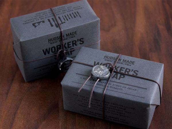 Hudson Made Soap Packaging by Hovard Design #packaging #black on black