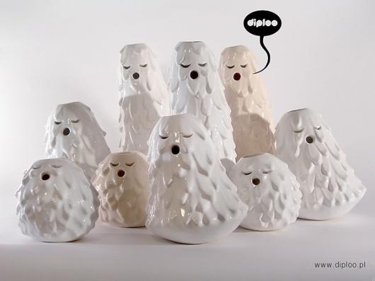 Singing Brownies on the Behance Network #vases #diploo #design #ceramic #funny