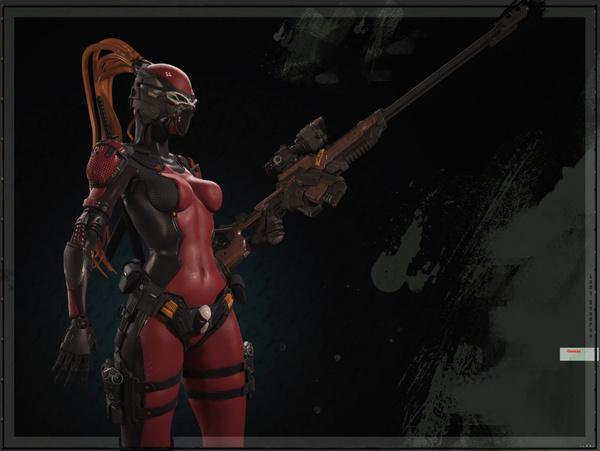 Lady DeadPool by Andey Svorodin   Sci Fi   3D   CGSociety #lady #deadpool