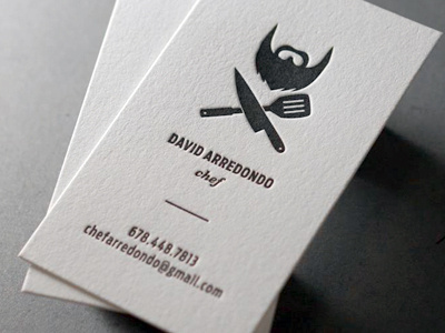 David Arredondo Chef #business #card #branding