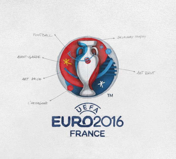 New Logo and Identity for UEFA EURO 2016 by Brandia Central #logo #identity