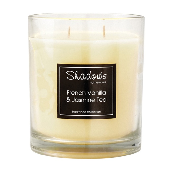 2-Wick Jar French Vanilla & Jasmine Tea Scented Candle