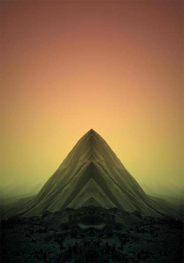 Pale Grain THE PEAK #limited #mountain #edition #dune #print #mirror #sand