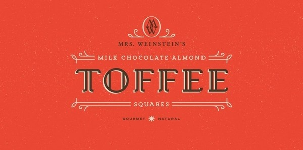Mrs. Weinstein's Toffee #logotype #old #identity #vintage