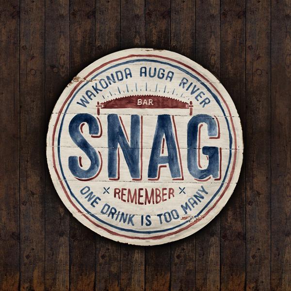 SNAG Bar on Behance #logo #vintage #typo