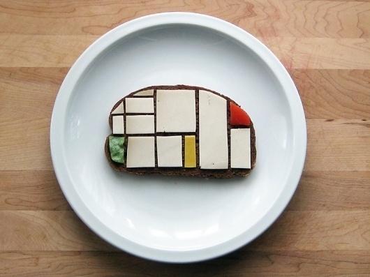 sandwichmondrian1.jpg (JPEG Image, 725x544 pixels) #sandwich #mondrian