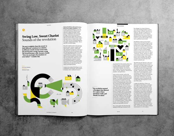 Outpost Magazine - Beirut | MagSpreads | Magazine Layout Inspiration and Editorial Design #print #design #layout