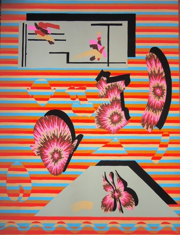 Bold Psychedelic Paintings by Eric Shaw   Art Sponge #abstract #design #shaw #eric #painting #psychedelic #gouache
