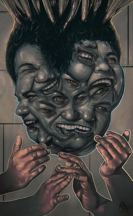 Messy portraits by lucirgo #inspiration #design #graphic #illustration #art