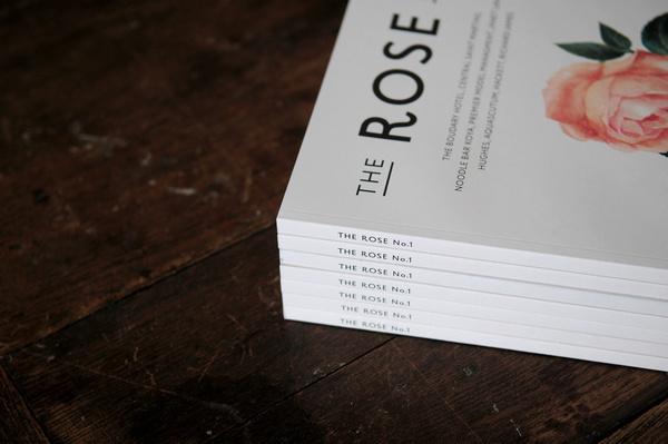 THE ROSE No.1 on the Behance Network #masthead #magazine #typography