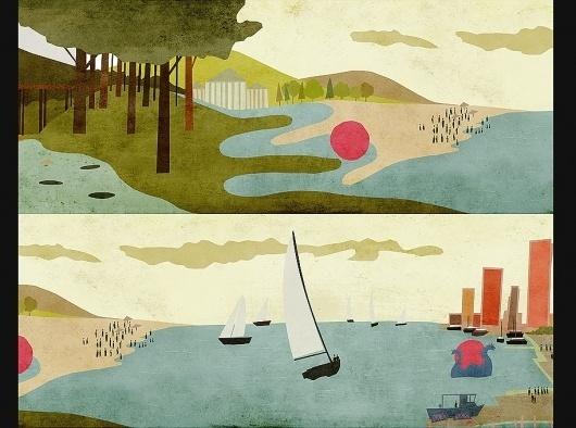 brian drucker #brian #illustration #drucker #landscape