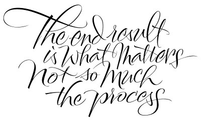 THE ART OF HAND LETTERING: The End Result #the #end #typography