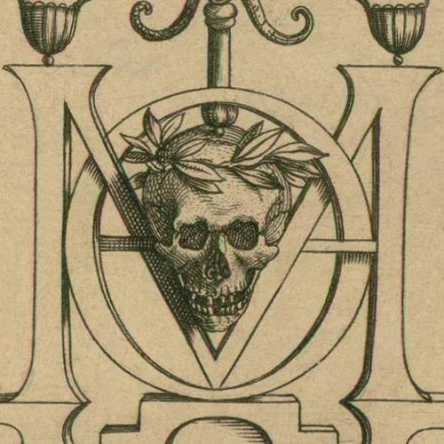 Skull Monogramme #engraving #mori #skull #momento