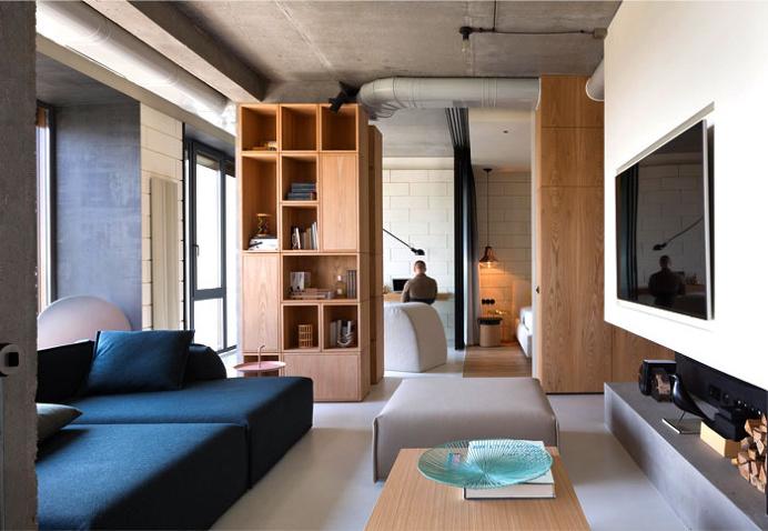Fresh Green Plants, Copper and Concrete at Apartment Designed by Olga Akulova - interior design, interior, decor, home decor, home design, # #interiordesign