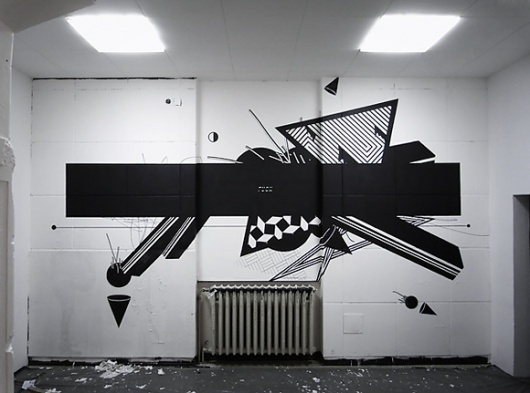 Via Grafik // From Wall to Screen to Everything™ #abstract #graphic #graffii #geometric #wall #painting