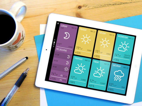 MINIMETEO for iPad on the Behance Network #ipad #minimeteo #awwwards