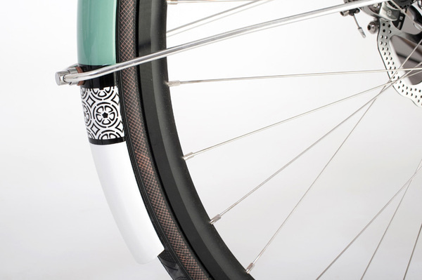 donhou_green_05 #pattern #bike #bicycle #fender #wheel
