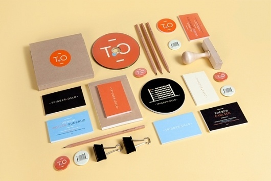 Trigger Oslo Identity on the Behance Network #identity #stationery