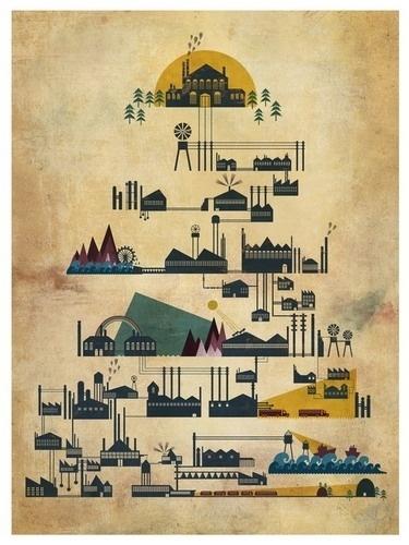 Modern Industry by Adam Hancher - Adam Hancher - Gallery #illustration #mechanical