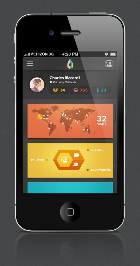 Infographic dribbble large #app #ui