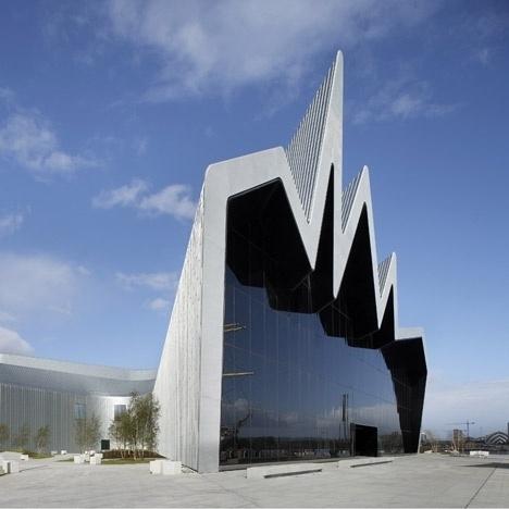 Dezeen » Blog Archive » Riverside Museum by Zaha Hadid Architects #glasgow #museum