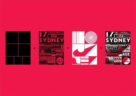 Creative Review - 17th Biennale of Sydney identity #dynamic #white #red #branding #sidney #black #system